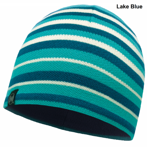 Buff Unisex Laki Stripes Knitted Hat - Fleece Band - One Size